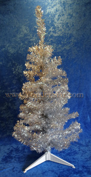 Silver Tinsel Christmas Tree 3 Feet Tall