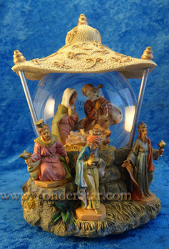 "Musical Fontanini Nativity Glitterdome ""We Three Kings"" 59082"