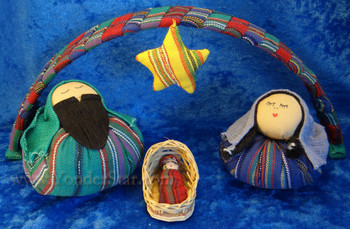 Guatemalan cloth nativity