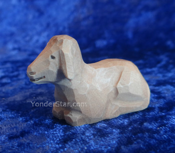 Huggler wood carved lamb