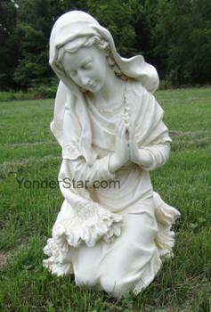 Mary outdoor nativity scene
