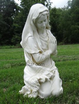 "Large Nativity Mary 39"" Ivory Outdoor Nativity Set - 39522"