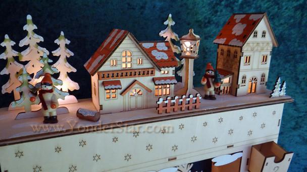 Wooden Advent calendar.