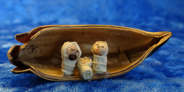 Cocoa Pod Nativity from Ecuador
