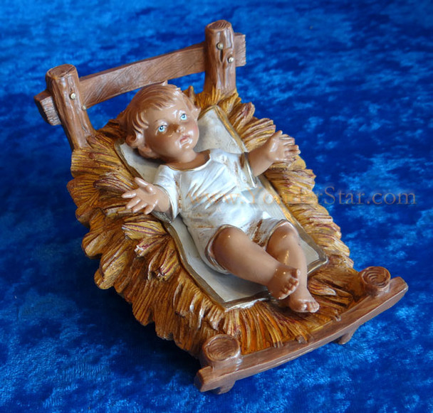 "Baby Jesus w Crib - 12"" Fontanini Nativity Infant Jesus 72913"