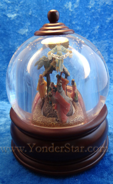 Musical Fontanini Nativity Glitterdome Lighted w Motion 54671