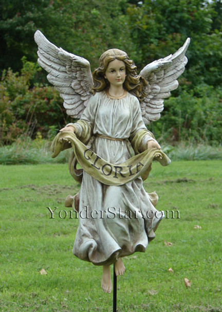 "Gloria Angel for 27"" Outdoor Nativity Scene Full Color"