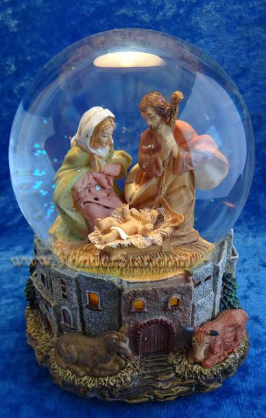 Fontanini Nativity Glitterdome Music and Lights 59081