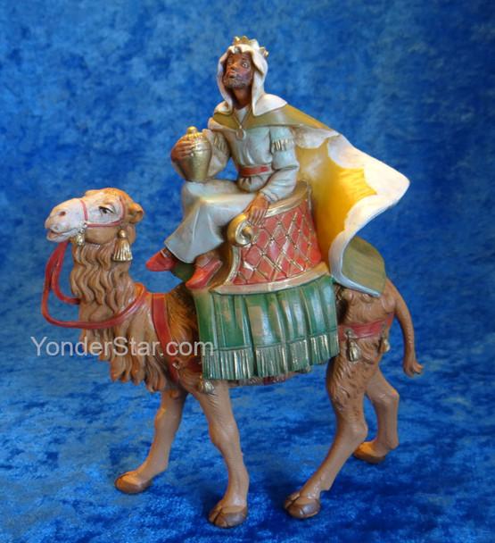 "Balthazar on Camel - 5"" Fontanini Nativity Wiseman 65286"