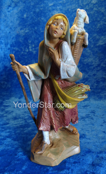 Fontanini nativity shepherd woman