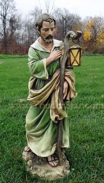 outdoor nativity Joseph