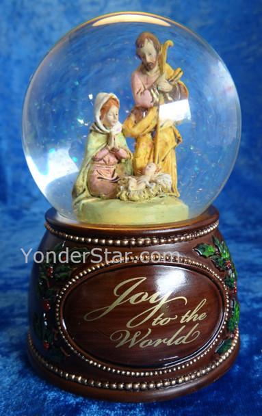 Musical Fontanini Nativity Glitterdome Joy To The World 59088