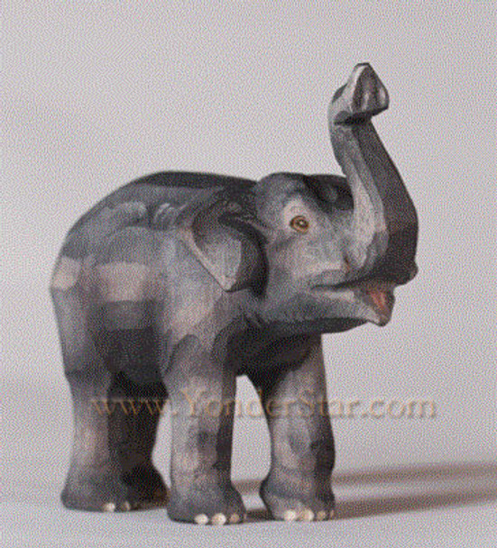 Huggler wood nativity elephant