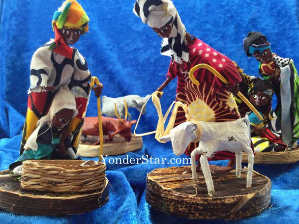 Ugandan nativity set