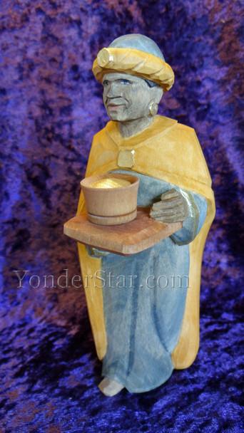 Huggler carved nativity wiseman
