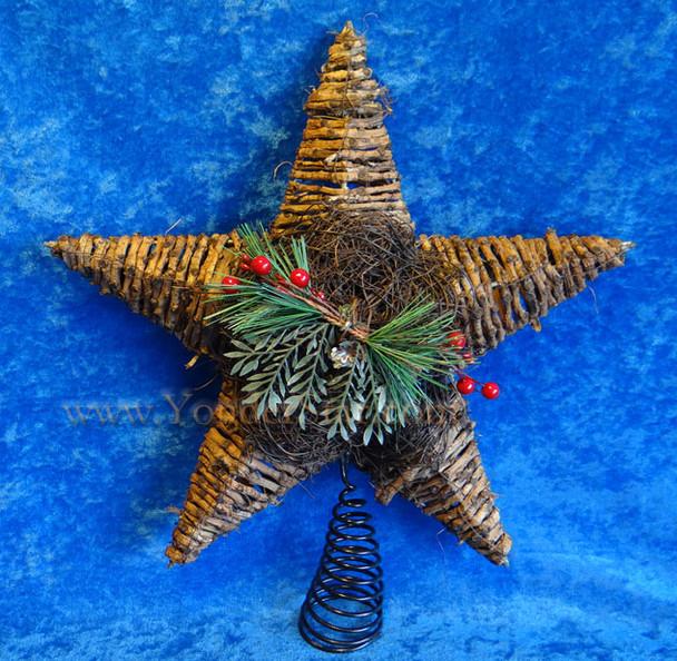 """14"""" Rattan Star Tree Topper"""