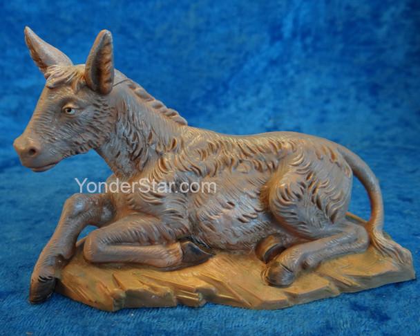 "Donkey Seated - 5"" Fontanini Nativity Animal 54017"