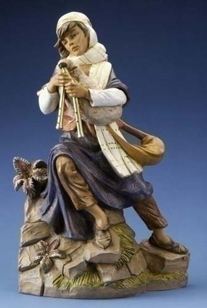 """Josiah - 18"""" Fontanini Nativity Bagpiper 53735"""