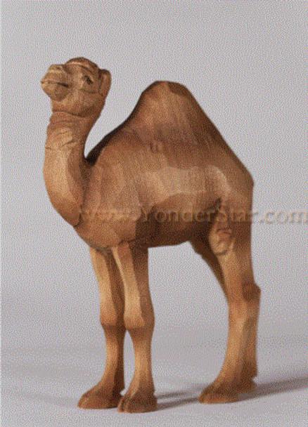 Huggler wood carved nativity camel