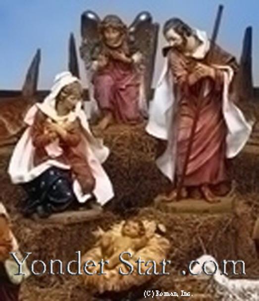 "Holy Family - 50"" Scale  Fontanini Nativity Scene"