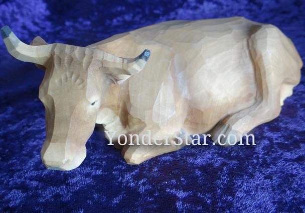 Wooden nativity switzerland ox.