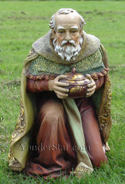 Kneeling Wiseman Melchior for Outdoor Nativity - 38011