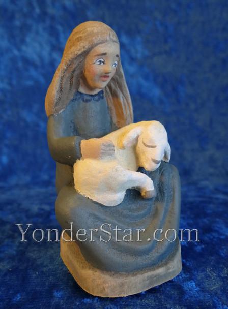 Wooden nativity girl Norway
