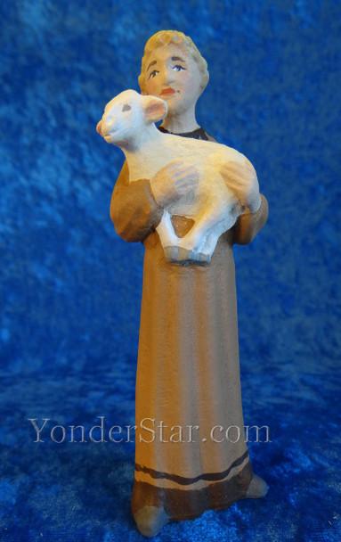 Norway wooden nativity shepherd