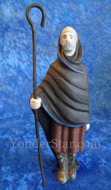carved wooden nativity shepherd