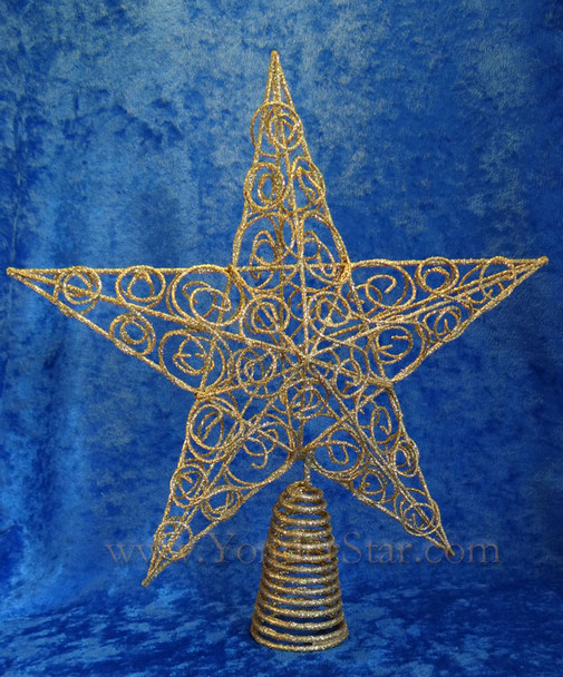 """10"""" Gold Wire Star Tree Topper"""