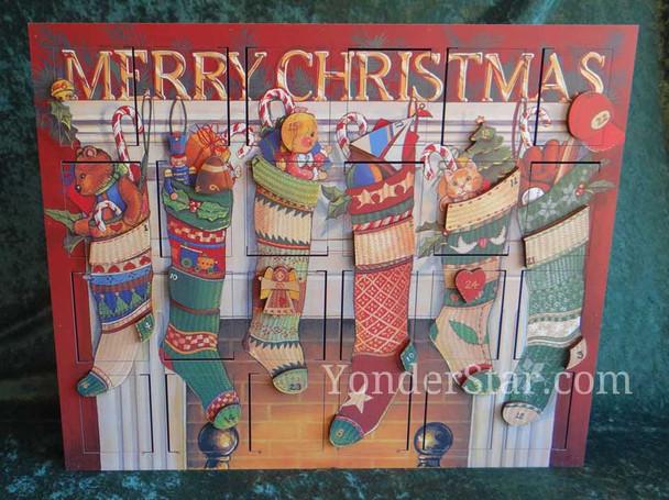 Stockings wooden Advent Calendar