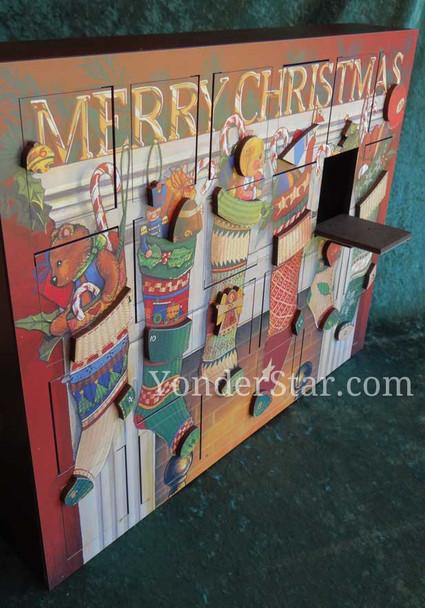 Wooden Advent calendar Byers Choice
