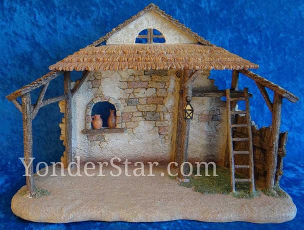 Fontanini nativity set resin stable
