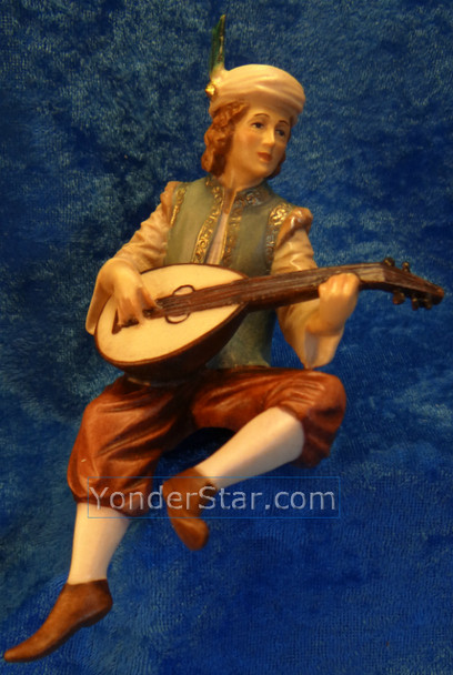 LEPI Venetian Nativity Page w Lute for King Balthasar