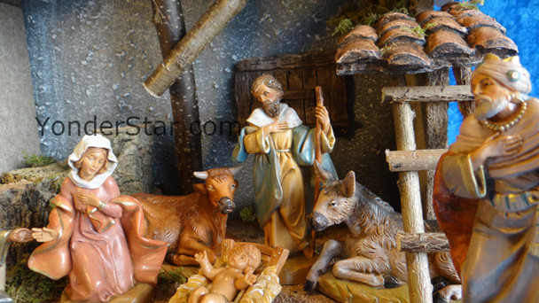 "5"" Fontanini 110th Anniversary Nativity Scene - 9 pc with Italian Stable 54130"
