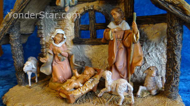 "5"" Fontanini Nativity Scene - 7 pc w 9"" Resin Stable  54461"