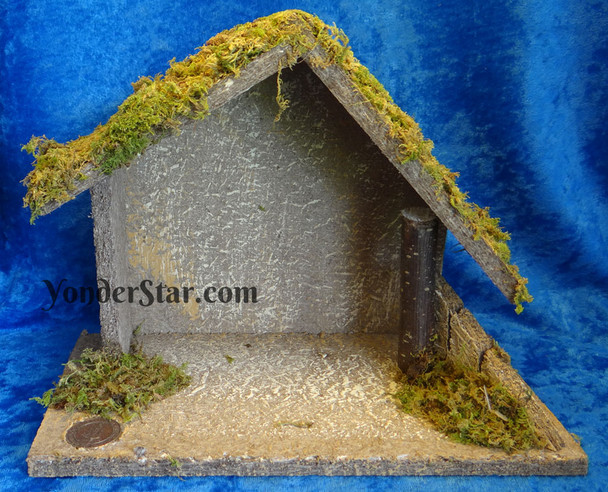 Fontanini nativity wooden stable