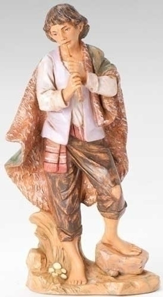 "Daniel, Shepherd with Flute for 12"" Fontanini Nativity"