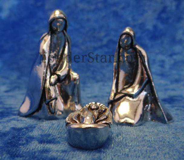 Canadian pewter nativity set