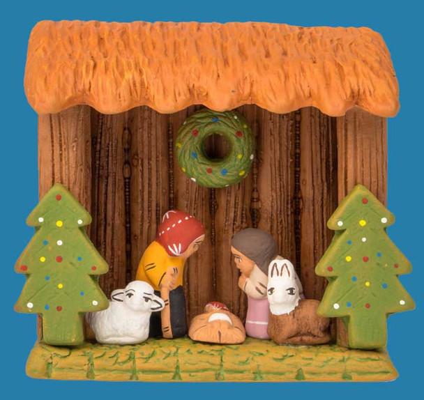 Woodland nativity scene