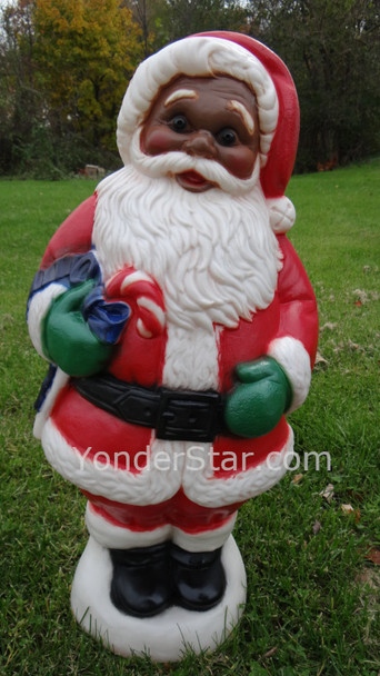 Lighted Outdoor  African American Santa Claus General Foam Plastics - 4 Left in Stock