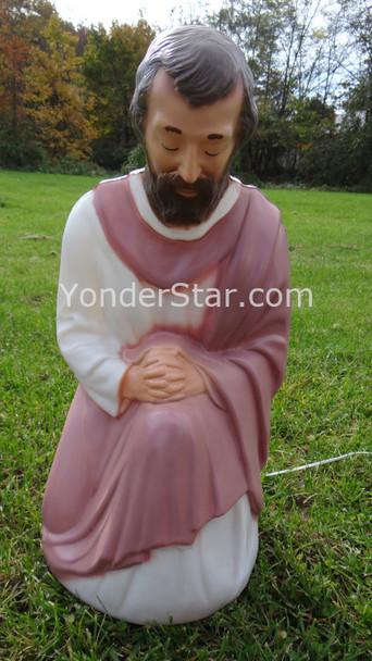 Kneeling Joseph for Lighted Outdoor Nativity - 1 Left in Stock
