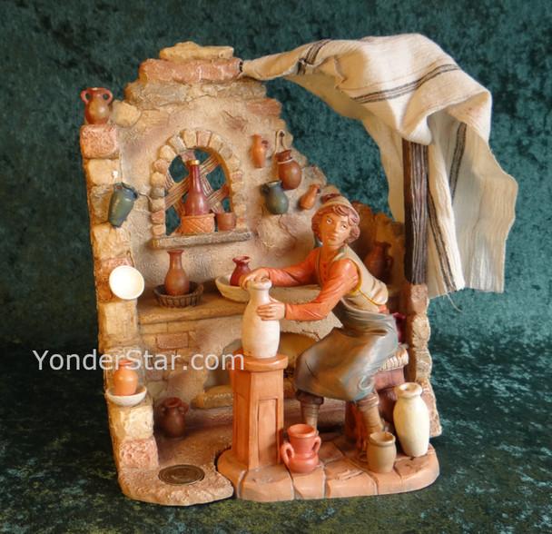 "Pottery Shop Scene - 7.5"" Fontanini Nativity"