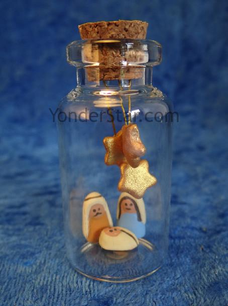 Message in a Bottle nativity