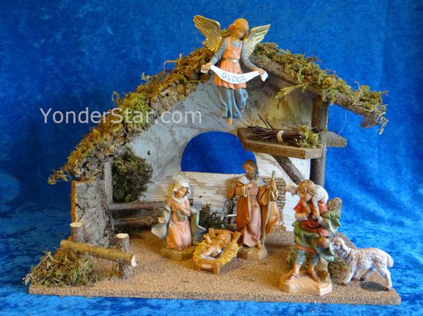 "Fontanini Nativity Scene w 11.25"" Wooden Stable 54491"