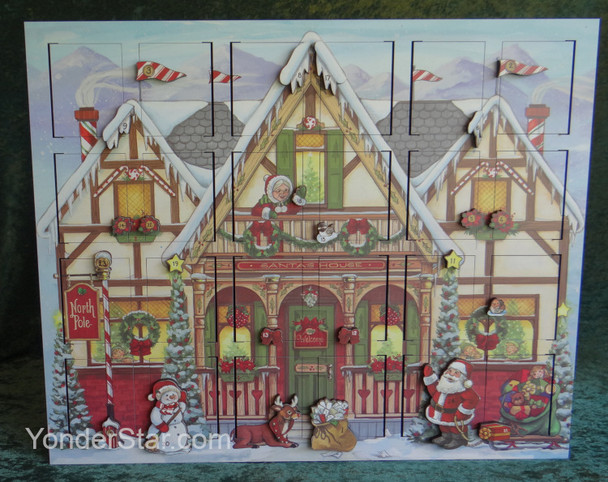 Heirloom Wooden North Pole Advent Calendar  - Byers' Choice