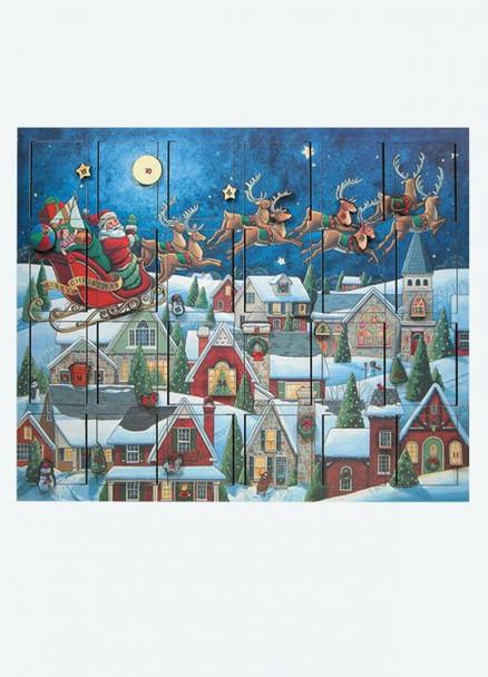 Musical Santa Sleigh Wooden Advent Calendar - Byers' Choice - Pre-order