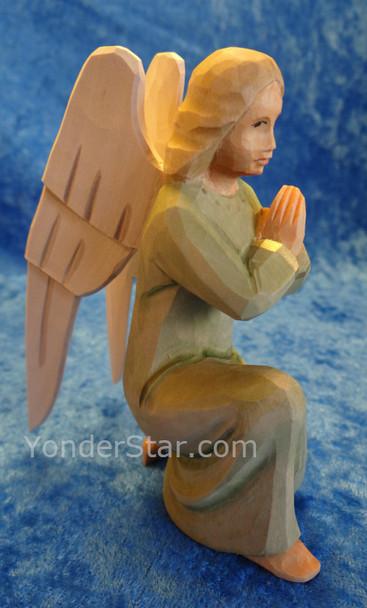 Angel Kneeling Green Gown - Huggler Nativity Switzerland