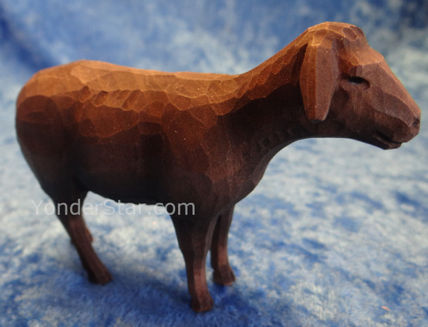 Black Sheep Standing - Huggler Nativity Woodcarving