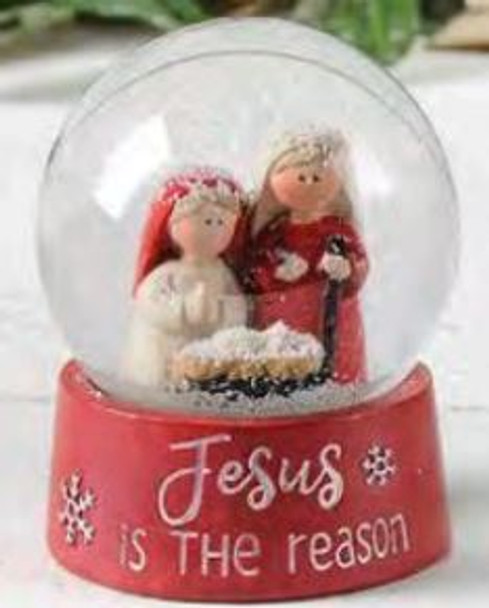 Jesus is the Reason Mini Snowglobe Nativity